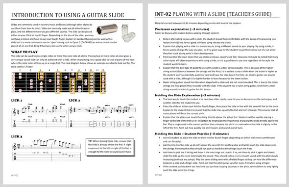 Professional Guitar Lesson Plans