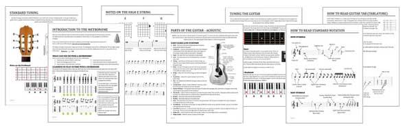 Guitar Lesson Materials
